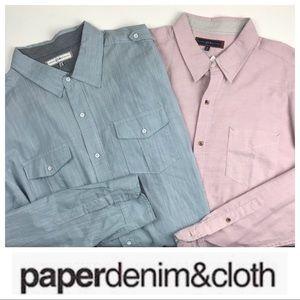 LOT 2 Paper Denim & Cloth Button Down Shirts 3XL